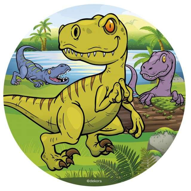"Dekoracja tortu - opłatek ""Dinozaur"", 16 cm, Dekora"