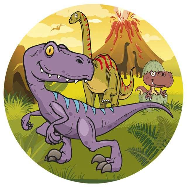 "Dekoracja tortu - opłatek ""Dinozaur 2"", 16 cm, Dekora"