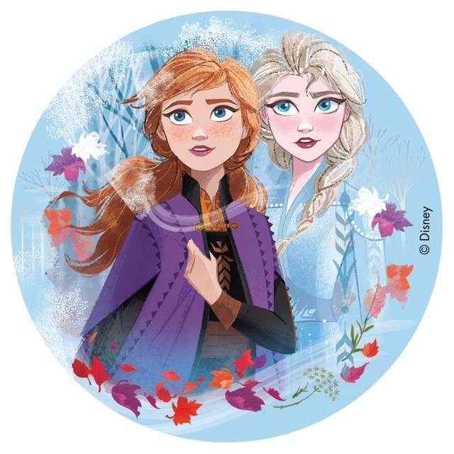 "Dekoracja tortu - opłatek bc ""Frozen"", 16 cm, Dekora"