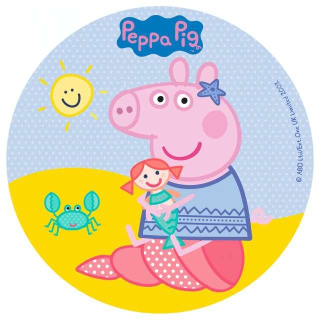 """Dekoracja tortu - opłatek bc """"Świnka Peppa"""", 16 cm, Dekora"""