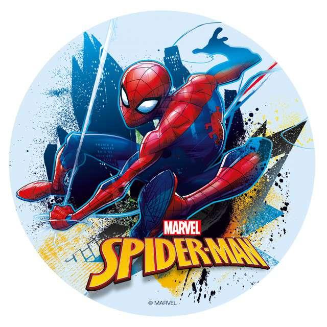 "Dekoracja tortu - opłatek bc ""Spiderman"", 16 cm, Dekora"