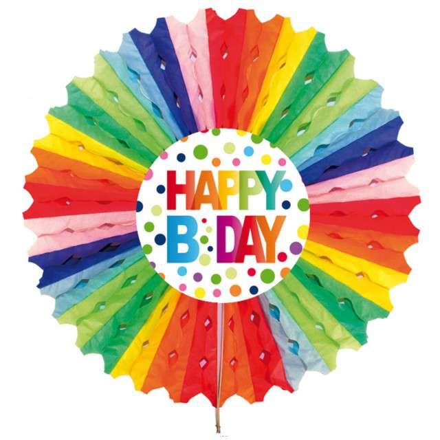 "Dekoracja ""Honeycomb - Happy Birthday"", Folat, 30 cm"