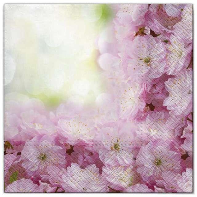 """Serwetki """"Kwiaty wiśnie"""", Maki, 33 cm, 20 szt"""