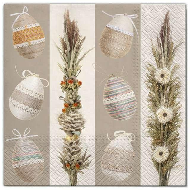 """Serwetki """"Wielkanoc - jajka i palmy"""", Maki, 33 cm, 20 szt"""