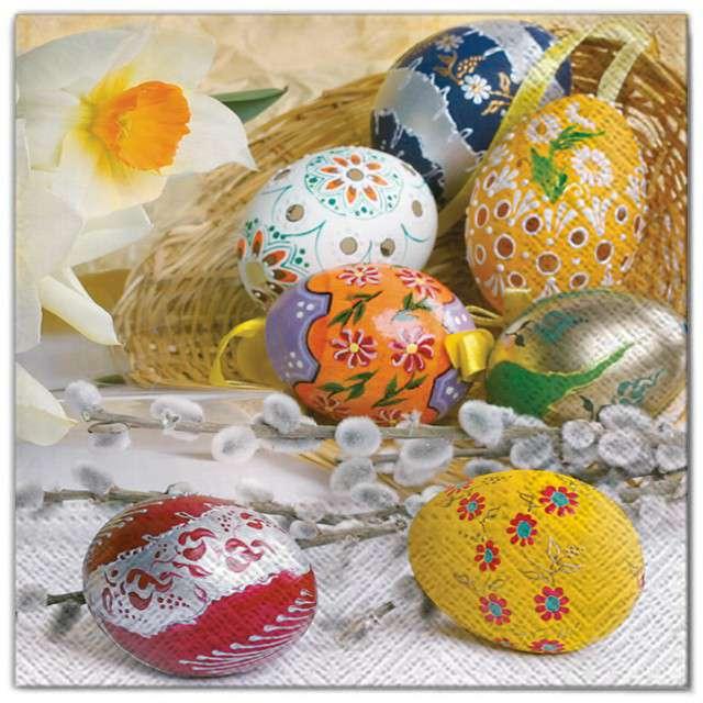"""Serwetki """"Wielkanoc - jajka i bazie"""", Maki, 33 cm, 20 szt"""