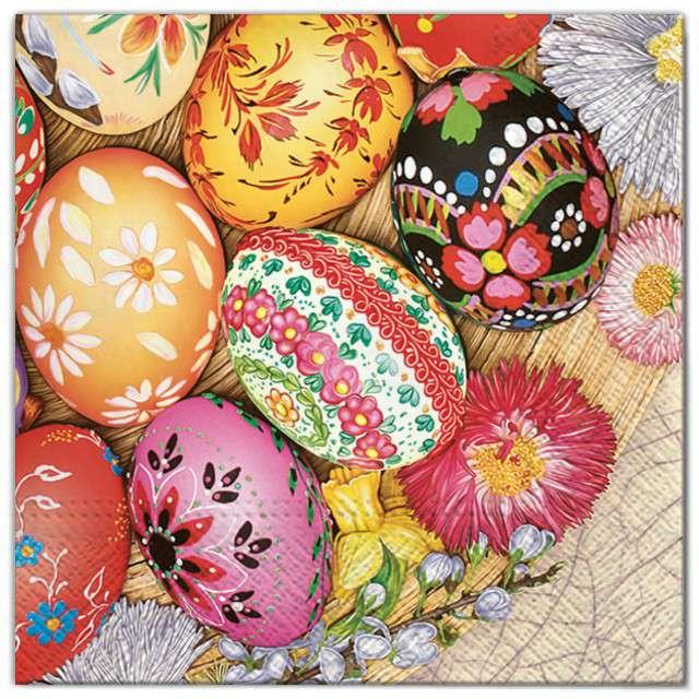 "Serwetki ""Wielkanoc - jajka folk"", Maki, 33 cm, 20 szt"