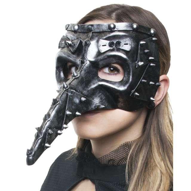 Maska Dżuma - Steampunk srebrna FunnyFashion