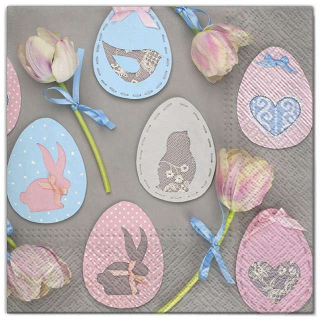 """Serwetki """"Wielkanoc - dekoracje jajka"""", Maki, 33 cm, 20 szt"""