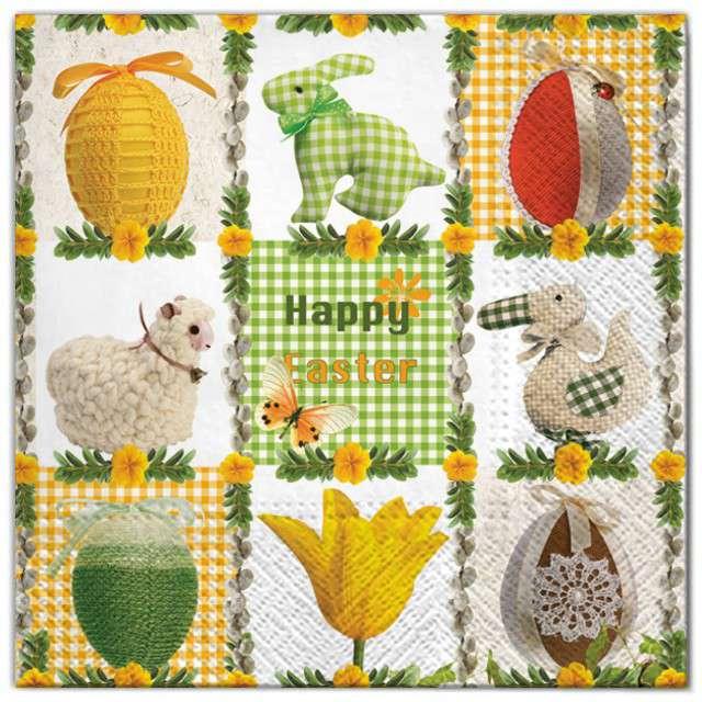 """Serwetki """"Wielkanoc - mozaika"""", Maki, 33 cm, 20 szt"""