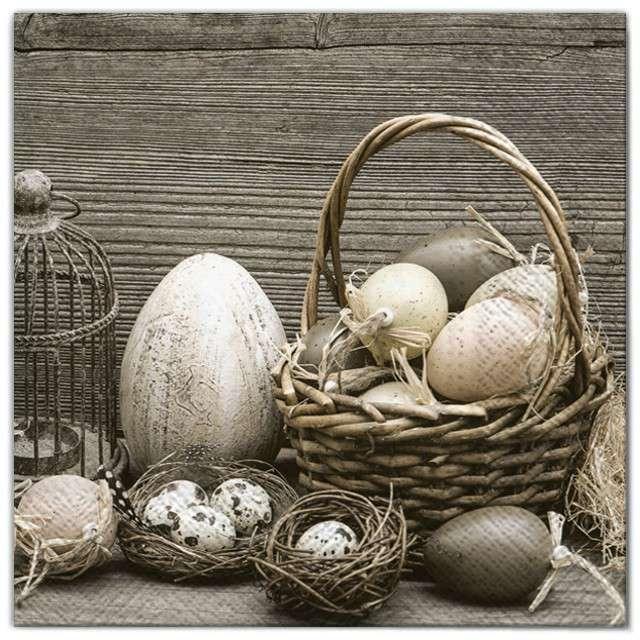 """Serwetki """"Wielkanoc - jajka rustykalne"""", Maki, 33 cm, 20 szt"""