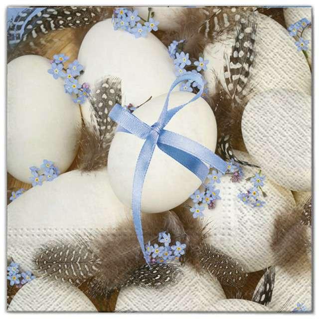 """Serwetki """"Wielkanoc - jajka z piórkami"""", Maki, 33 cm, 20 szt"""