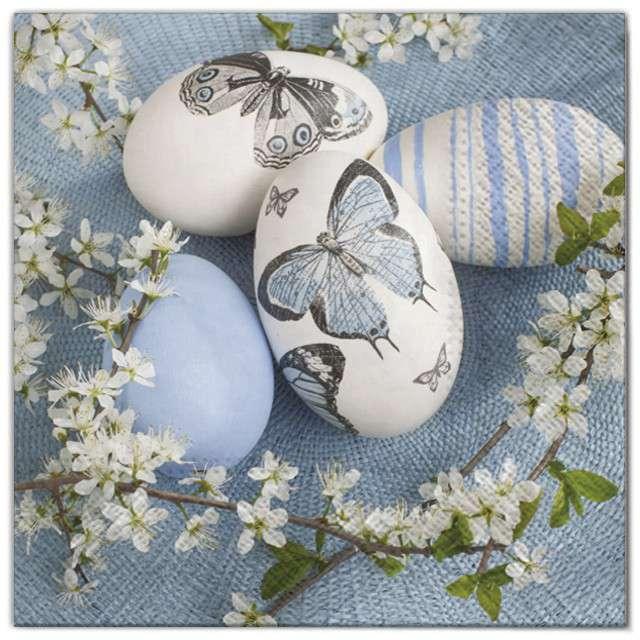 "Serwetki ""Wielkanoc - jajka"", Maki, 33 cm, 20 szt"