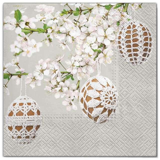 """Serwetki """"Wielkanoc - pisanki na gałęzi"""", Maki, 33 cm, 20 szt"""
