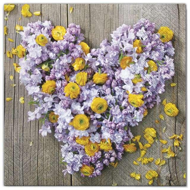 """Serwetki """"Kwiaty serce"""", Maki, 33 cm, 20 szt"""