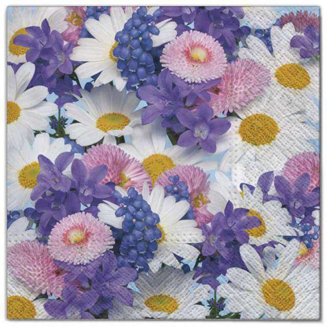 """Serwetki """"Wielkanoc - mnóstwo kwiatów"""", Maki, 33 cm, 20 szt"""