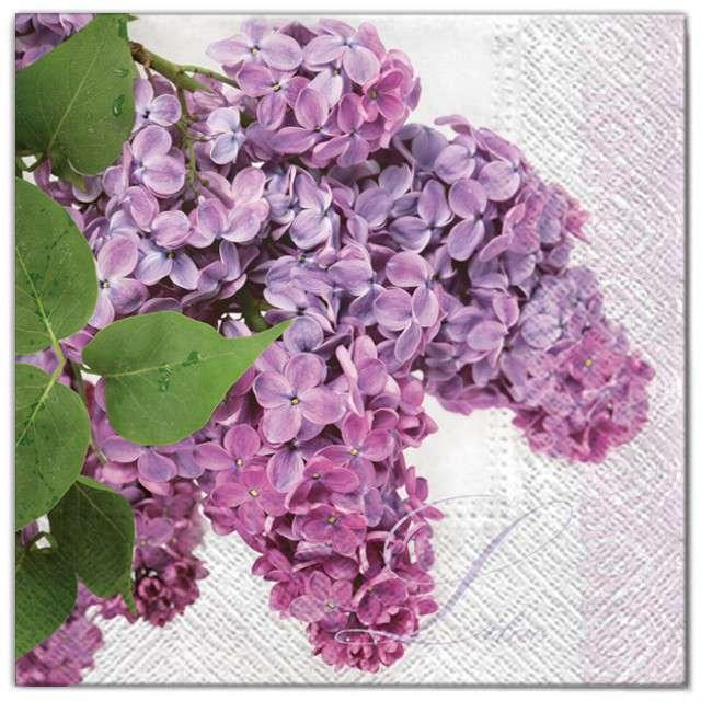 """Serwetki """"Kwiaty bez fioletowy"""", Maki, 33 cm, 20 szt"""
