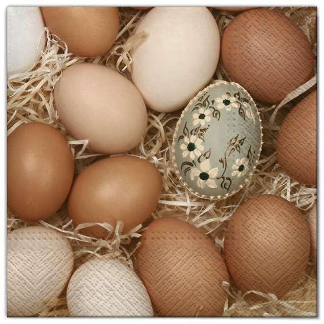 "Serwetki ""Wielkanoc - naturalne jajka"", Maki, 33 cm, 20 szt"
