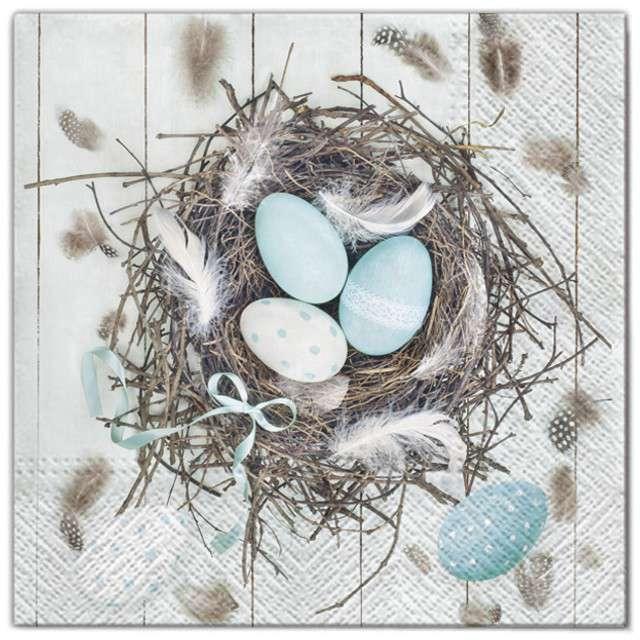 """Serwetki """"Wielkanoc - jajka w gniazdku"""", Maki, 33 cm, 20 szt"""