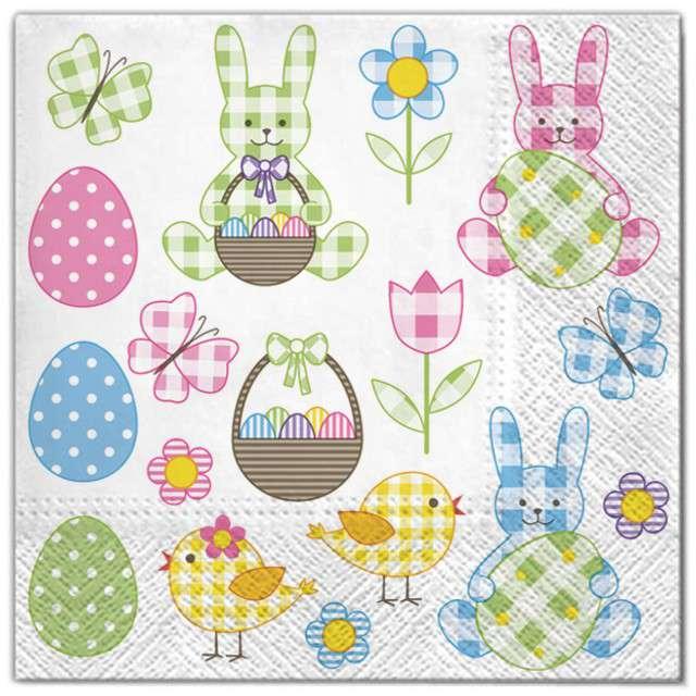 """Serwetki """"Wielkanoc - pastelowe ozdoby"""", Maki, 33 cm, 20 szt"""