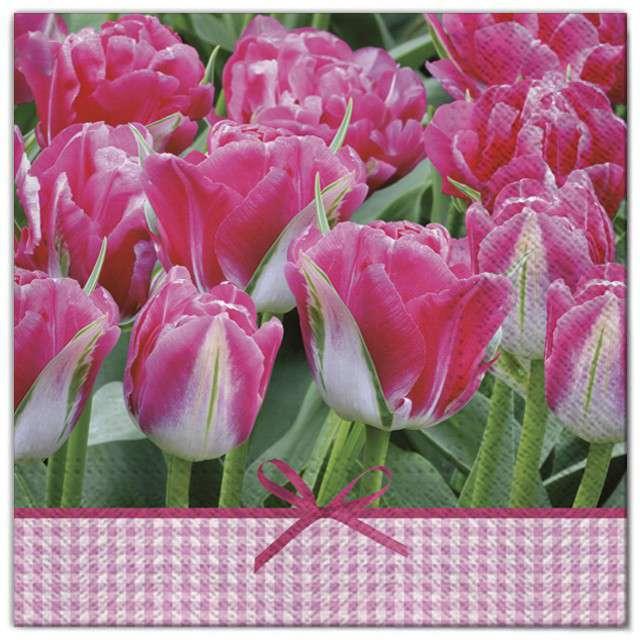 """Serwetki """"Kwiaty tulipany fuksja"""", Maki, 33 cm, 20 szt"""