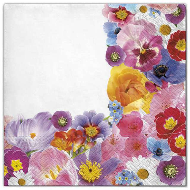 """Serwetki """"Kwiaty kompozycja"""", Maki, 33 cm, 20 szt"""