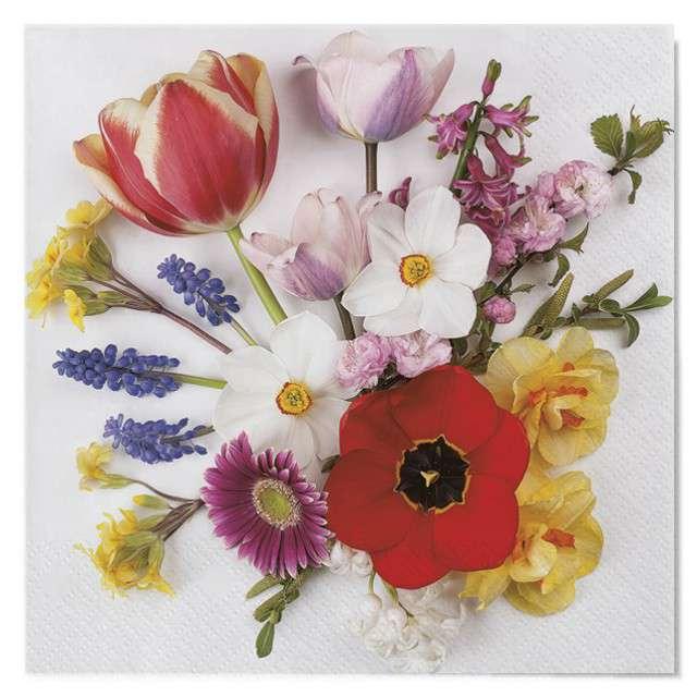 """Serwetki """"Wielkanoc - bukiet kwiatów"""", Maki, 33 cm, 20 szt"""