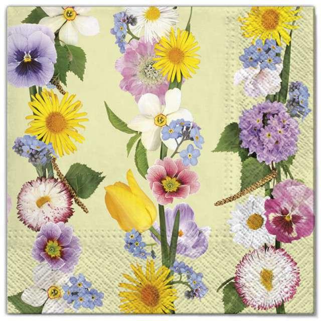 """Serwetki """"Wielkanoc - gałazki kwiatów"""", Maki, 33 cm, 20 szt"""