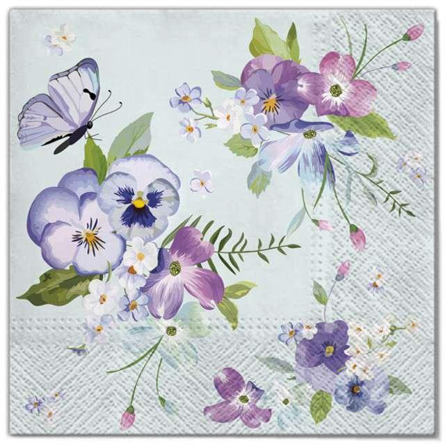 """Serwetki """"Wielkanoc - wiosenne kwiaty"""", Maki, 33 cm, 20 szt"""