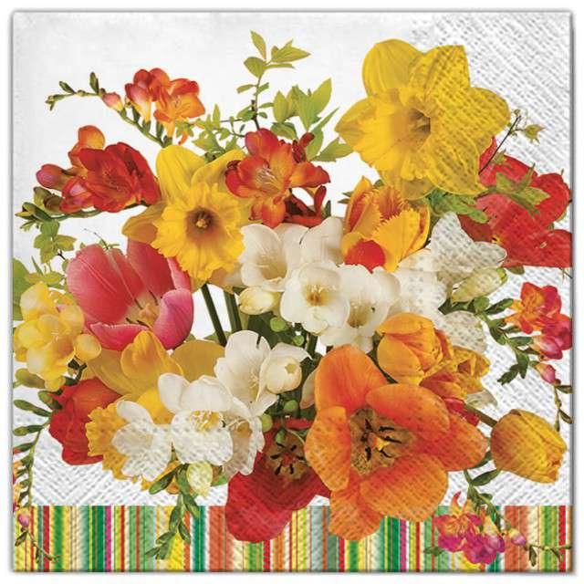 """Serwetki """"Kwiaty słoneczny bukiet"""", Maki, 33 cm, 20 szt"""