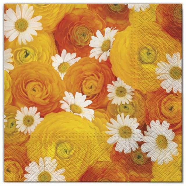 """Serwetki """"Kwiaty jaskry"""", Maki, 33 cm, 20 szt"""