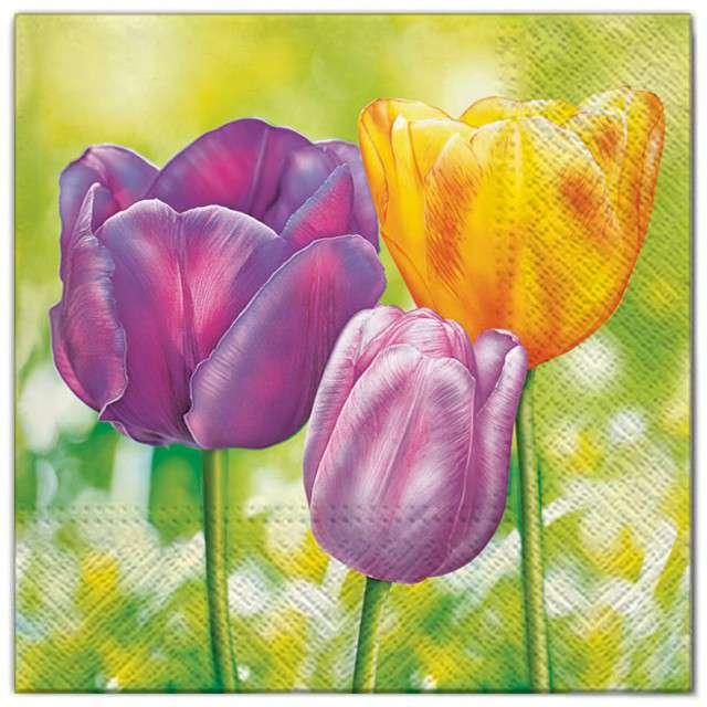 """Serwetki """"Kwiaty 3 tulipany"""", Maki, 33 cm, 20 szt"""