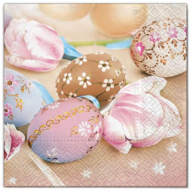 """Serwetki """"Wielkanoc - zdobione jajka"""", Maki, 33 cm, 20 szt"""