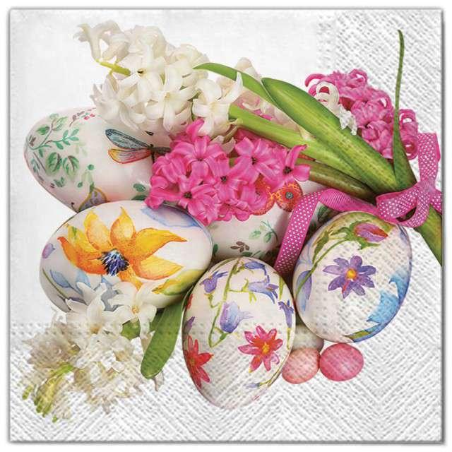 """Serwetki """"Wielkanoc - kolorowe pisanki"""", Maki, 33 cm, 20 szt"""