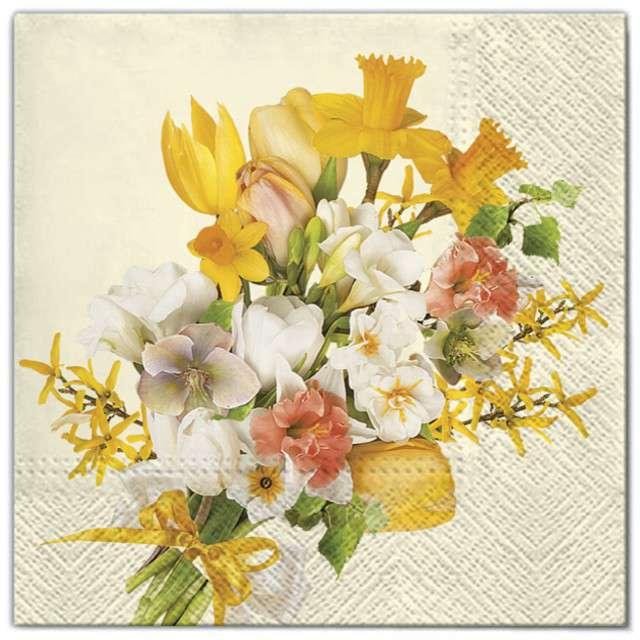 """Serwetki """"Kwiaty żółty bukiet"""", Maki, 33 cm, 20 szt"""