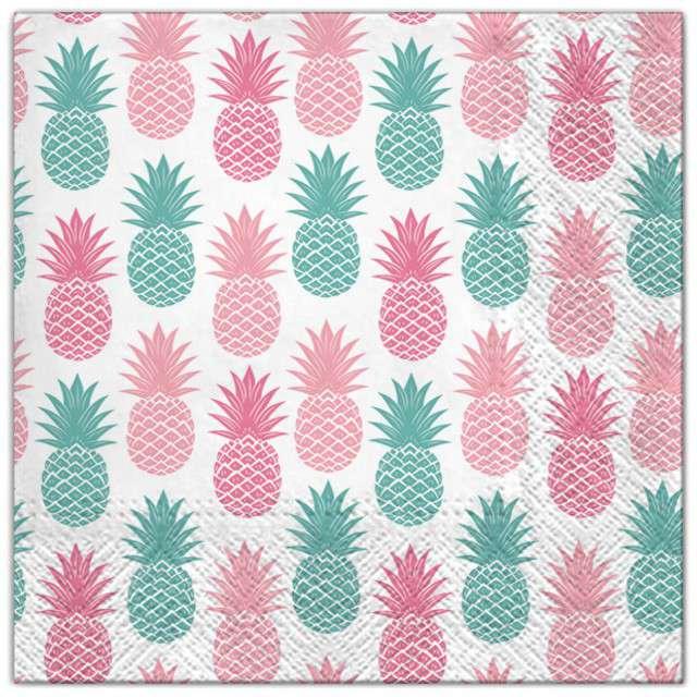 """Serwetki """"Ananasy"""", Maki, 33 cm, 20 szt"""