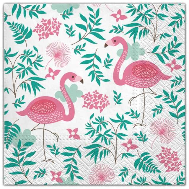 "Serwetki ""Flamingi"", Maki, 33 cm, 20 szt"