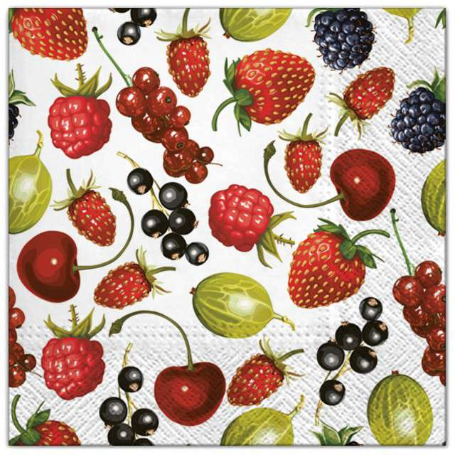 """Serwetki """"Letnie owoce"""", Maki, 33 cm, 20 szt"""