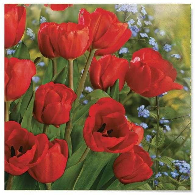 """Serwetki """"Wielkanoc - maki czerwone"""", Maki, 33 cm, 20 szt"""