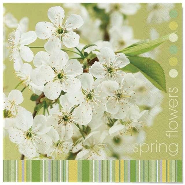 """Serwetki """"Wielkanoc - kwiaty wiśni"""", Maki, 33 cm, 20 szt"""