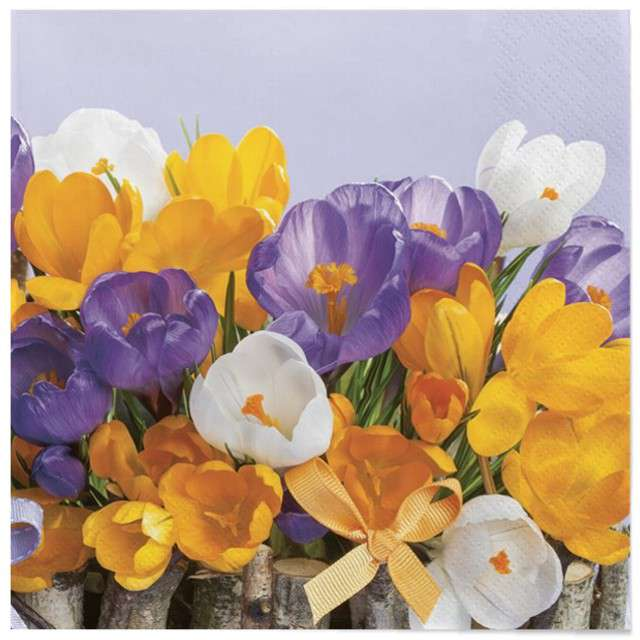 """Serwetki """"Wielkanoc - kolorowe kwiaty"""", Maki, 33 cm, 20 szt"""