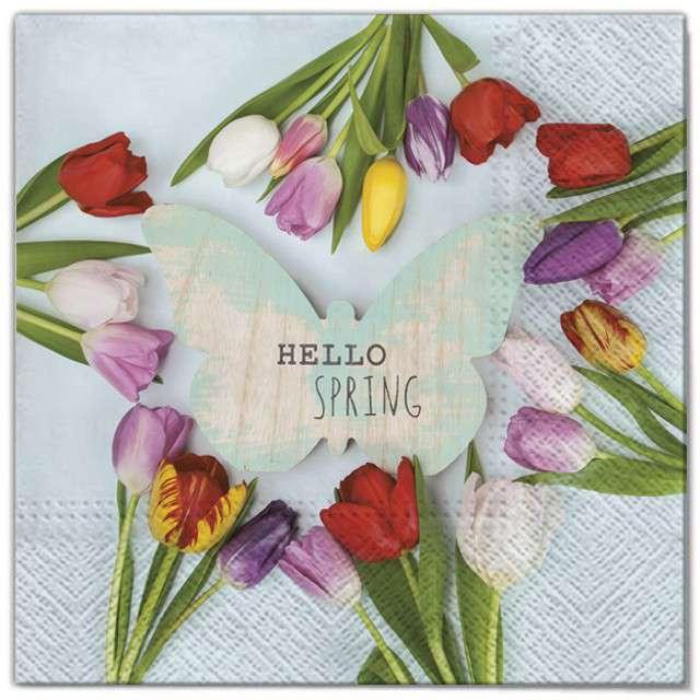 """Serwetki """"Wielkanoc - tulipany kolorowe"""", Maki, 33 cm, 20 szt"""