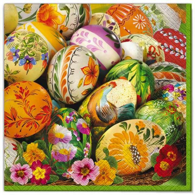 """Serwetki """"Wielkanoc - kolorowe jajka"""", Maki, 33 cm, 20 szt"""