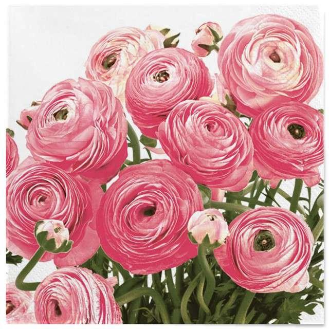 """Serwetki """"Wielkanoc - różowe róże"""", Maki, 33 cm, 20 szt"""