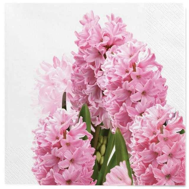 """Serwetki """"Wielkanoc - różowe hiacynty"""", Maki, 33 cm, 20 szt"""