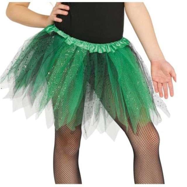 """Spódniczka tutu """"Classic shine"""", czarno-zielona, Guirca, 31 cm"""