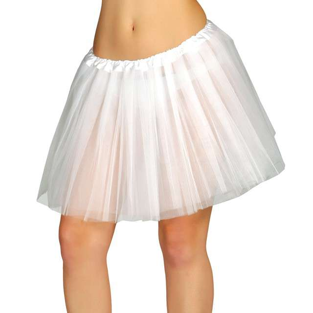"Spódniczka tutu ""Classic neon"", białe, Guirca, 40 cm"