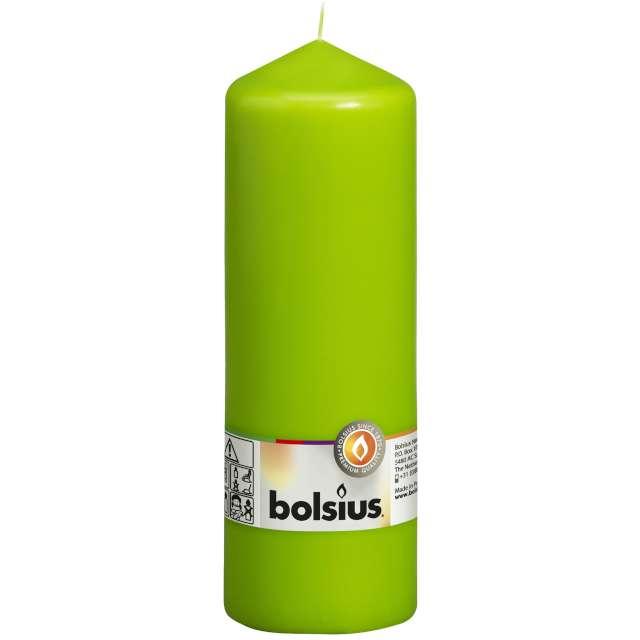 "Świeca pieńkowa ""Classic Long"", zielona, Bolsius, 200/68mm"