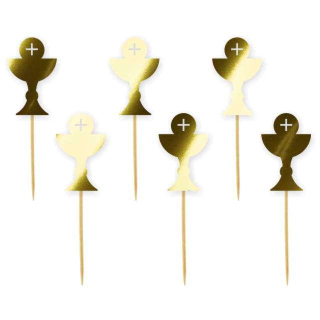 "Pikery ""Hostia"", złote metalik, 6 szt"