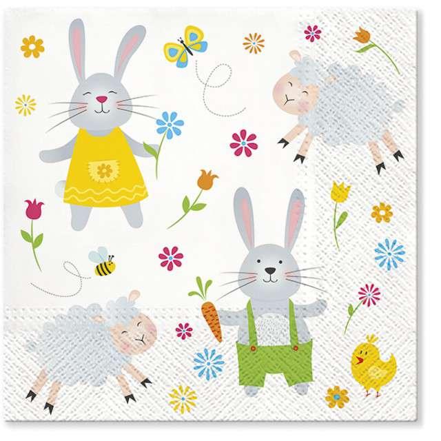 """Serwetki """"Wielkanoc - rysunkowe zwierzaki"""", PAW, 33 cm, 20 szt"""