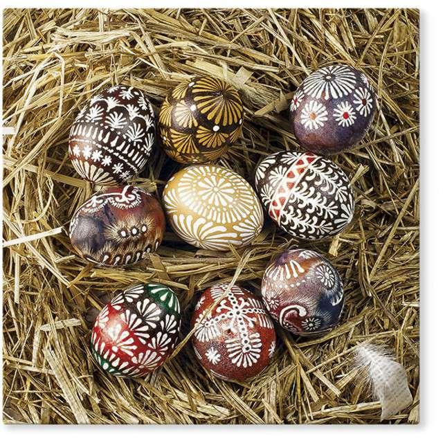"""Serwetki """"Wielkanoc - jajka na sianku"""", PAW, 33 cm, 20 szt"""